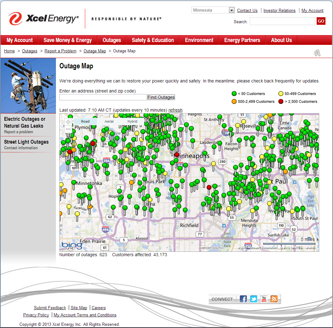 Millions of Americans Suffered Power Outages. Isn't it time ... on energy map illinois, power outages atlanta area map, tornado map illinois, power transmission lines map illinois, current road conditions illinois, weather map illinois, crime map illinois, power outages in indianapolis indiana, current power outages in illinois, flood map illinois,
